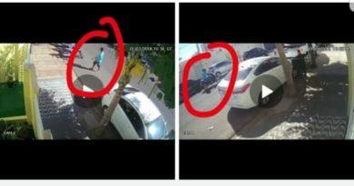 IMG 20190703 013342 390x205 - Câmeras de segurança flagram furto de motoneta no centro de Birigui