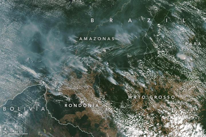 brazilfires virs 2019225 - Satélite da NASA capta incêndio na Amazônia: Governo estuda uma forma de agravar a pena para quem for identificado como autor de queimadas