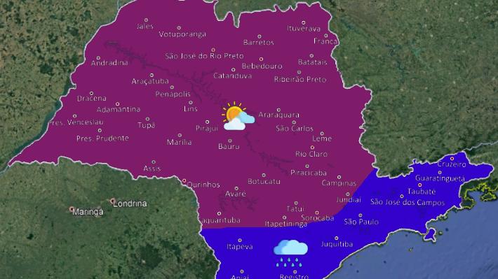 cropped 20190811 1 - Frente fria fará temperatura cair no Estado de São Paulo