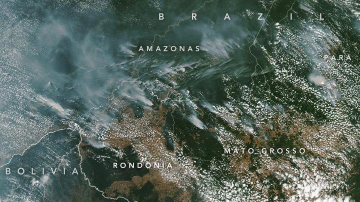 cropped brazilfires virs 2019225 - Satélite da NASA capta incêndio na Amazônia: Governo estuda uma forma de agravar a pena para quem for identificado como autor de queimadas
