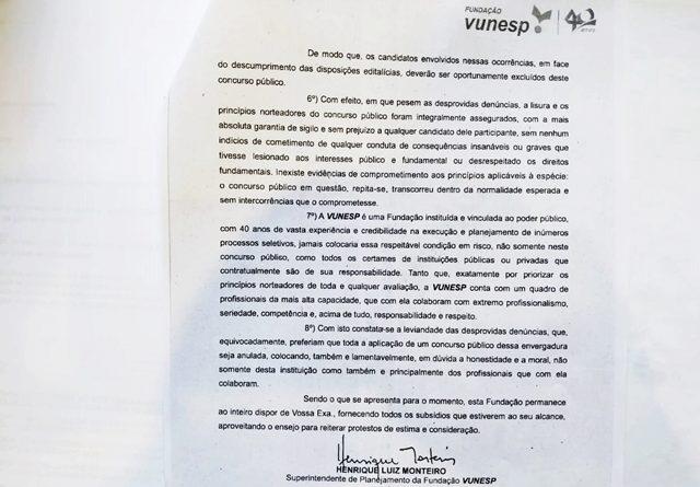 0006 640x445 - VUNESP identifica e elimina candidata após denúncia de fraude em concurso público para Prefeitura de Birigui