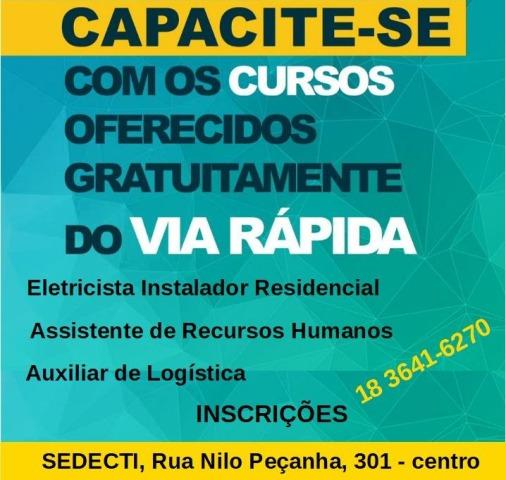 abrevia1 - Via Rápida está com inscrições abertas para três cursos gratuitos