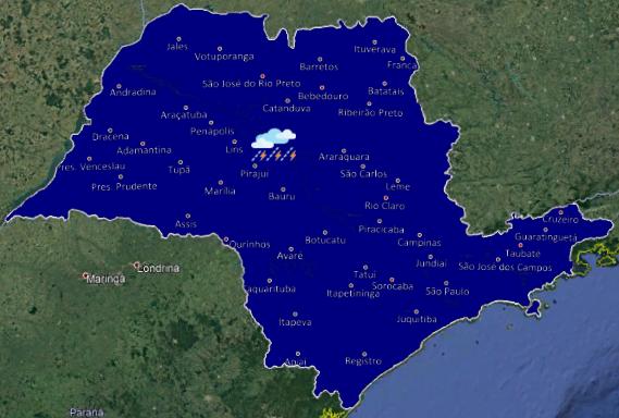 20191106 1 - Chuva deve chegar nesta terça-feira no interior de São Paulo