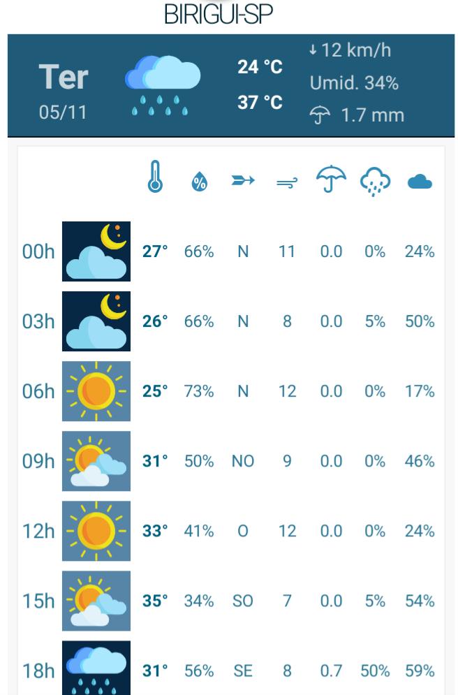 IMG 20191105 121227 - Chuva deve chegar nesta terça-feira no interior de São Paulo