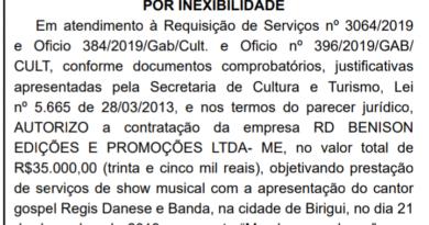 IMG 20191211 225206 390x205 - Prefeitura de Birigui paga R$ 35 mil para contratar cantor gospel