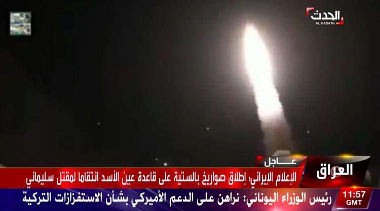 ira - Vídeo mostra lançamento de mísseis em contra-ataque iraniano