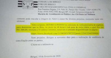 FB IMG 1581453641724 390x205 - Justiça de Birigui determina retira de publicação contra Salmeirão