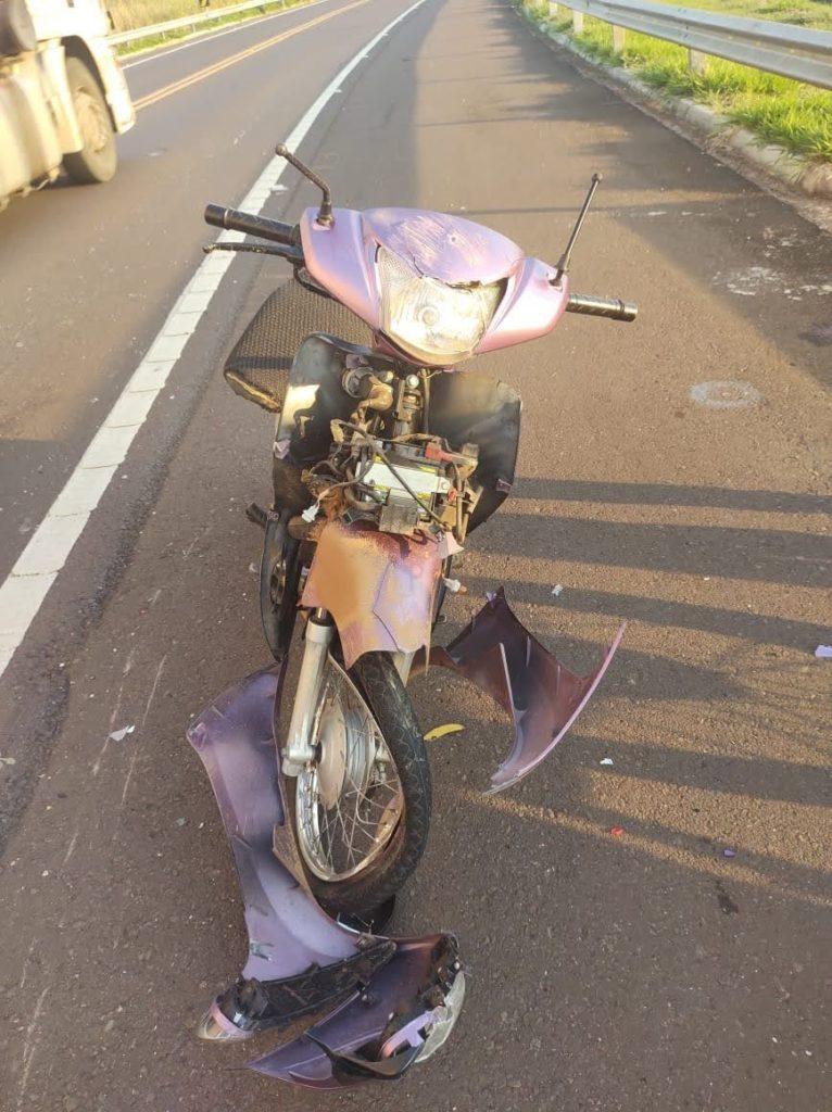 IMG 20200723 WA0017 766x1024 - Auxiliar de enfermagem fica ferida após atropelar capivaras em rodovia do Guatambu