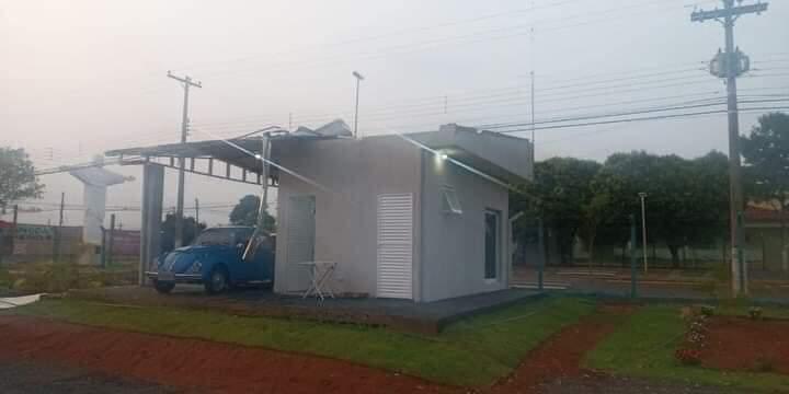 FB IMG 1602464853472 - Base da Polícia Municipal recém inaugurada fica parcialmente destruída após chuva em Birigui