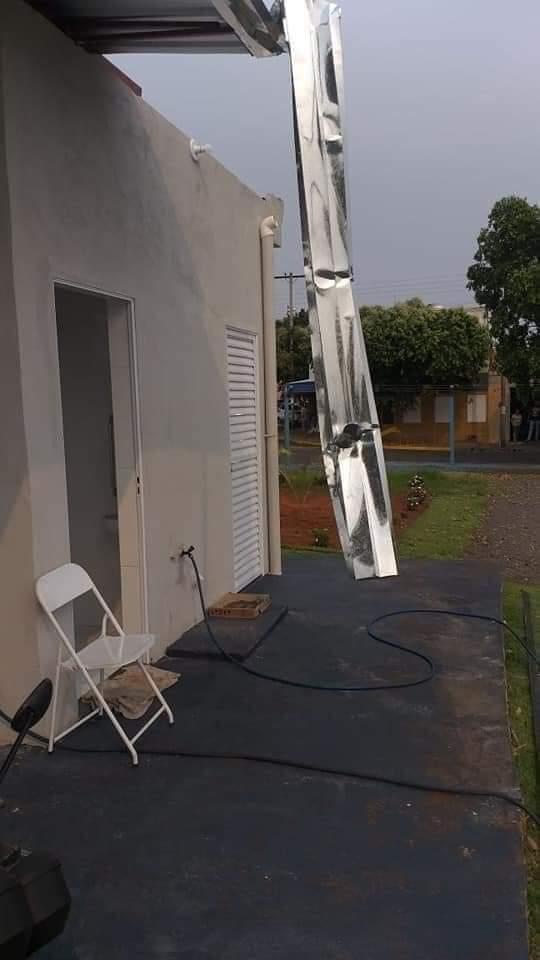 FB IMG 1602464858787 - Base da Polícia Municipal recém inaugurada fica parcialmente destruída após chuva em Birigui