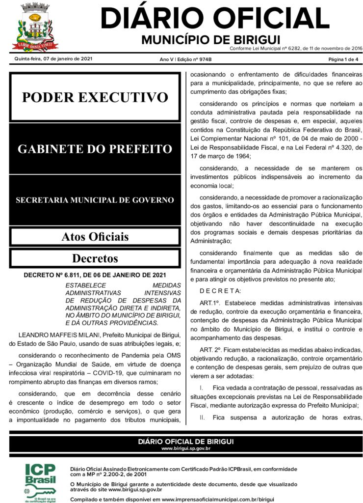 IMG 20210107 210100 740x1024 - CRISE: sem dinheiro em caixa, prefeito de Birigui corta gastos e faz pagamento escalonado a servidores