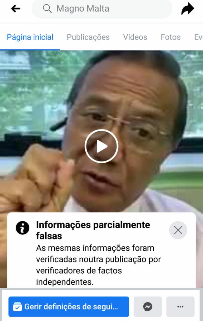 """IMG 20210119 231414 650x1024 - Ao tentar divulgar """"fakenews"""", ex senador Magno Malta posta foto """"curiosa"""" no seu perfil em  rede social"""