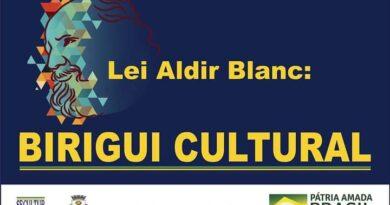 """Mostra artística """"Lei Aldir Blanc: Birigui Cultural"""" será apresentada por meio das redes sociais"""