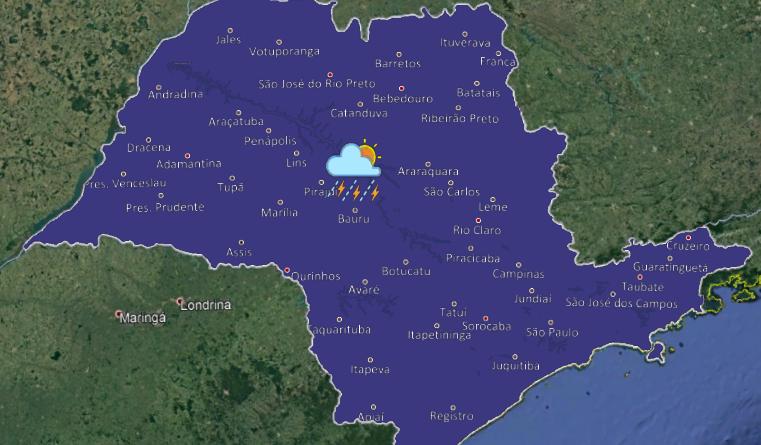 Mod 042 761x445 - Semana pode começar com chuva no interior paulista