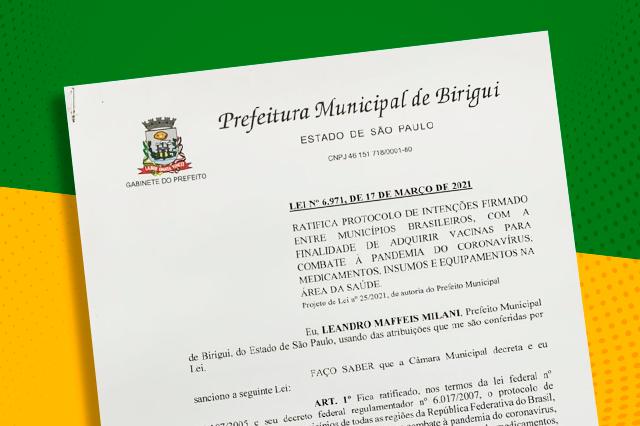 capa@ratifica compra vacina - Birigui entre em consórcio para aquisição de vacinas contra o covid-19
